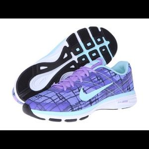 Nike Flywire Dual Fusion Sneakers Purple Teal